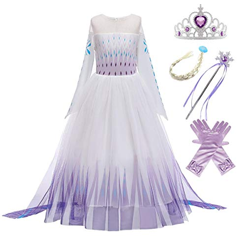 Kosplay ELSA Prinsessen Kostuum Meisjes Ijskoningin Jurk Blauw voor Kerstmis Carnaval Party Halloween 3-11 Jaar