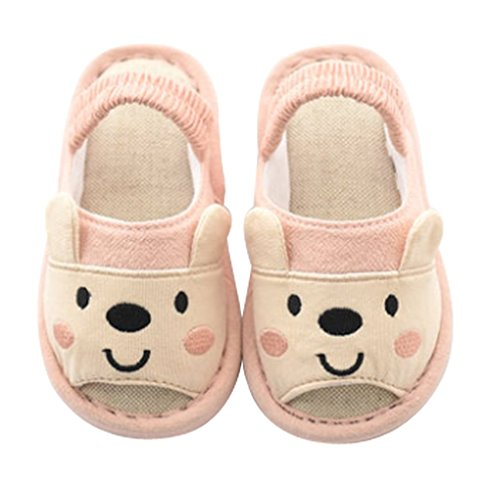 Cattior Toddler Comfy Cute Open Toe Slippers Kids House Shoes Bedroom Slippers
