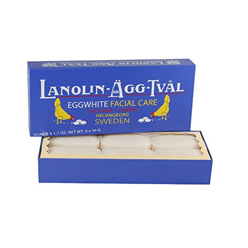 Victoria Lanolin Agg Tval Egg White Facial Care Soap for Women, 6 x 1.7 Ounce