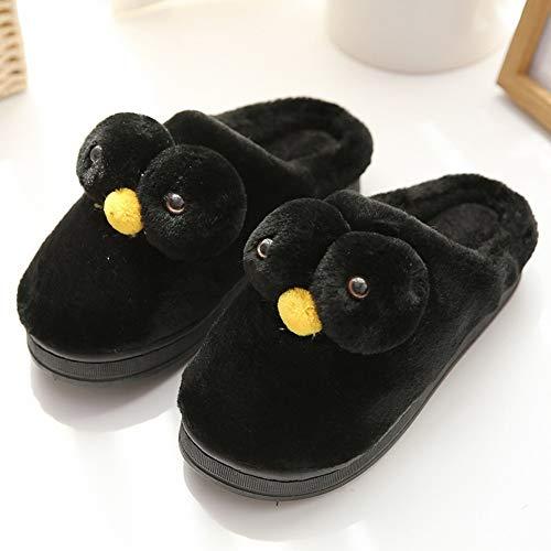 Deed Coppie Caldo Legno Pantofole Carino Inverno Casa E Cotone Di Coperta In Nero Autunno Pavimento Pulcino rFFRn