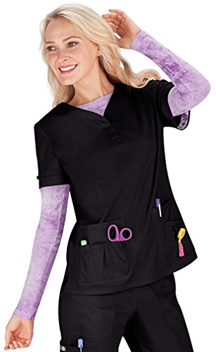 KOI Women's Erica Multi Pocket Solid Scrub Top X-Small - Erica Wear