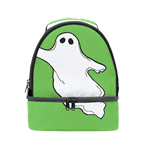 DEYYA Halloween-Photos-Flying-Ghost-Clipart Insulated Lunch Bag Reusable Multifunctional Cooler