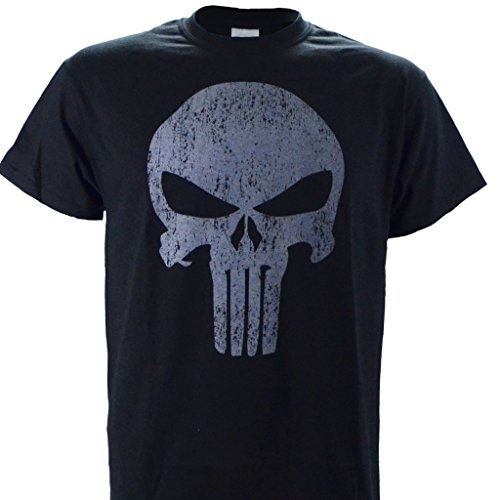 Punisher on a Black Short Sleeve T Shirt