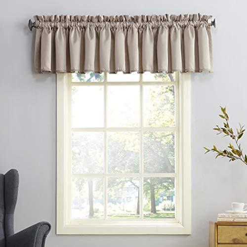 Sun Zero Barrow Energy Efficient Rod Pocket Curtain Valance, 54