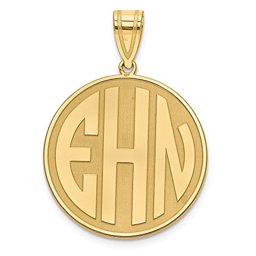 Jewelry Pendants & Charms Personalized Gold Plated/SS Block Letter Circle Monogram Pendant ()
