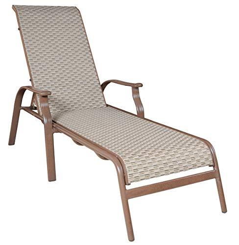 Panama Jack Island Breeze Stackable Sling Chaise Lounge, Espresso Finish