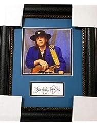 Stevie Ray Vaughan cut signature