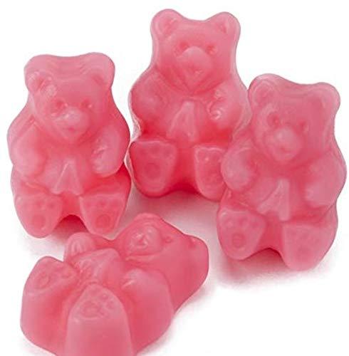 (Pink Strawberry Gummy Bears - 5LB Bag)