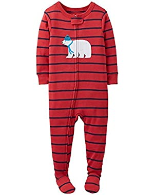 Carter's Baby-boys' Snug Fit Cotton Footed Sleeper Pajamas