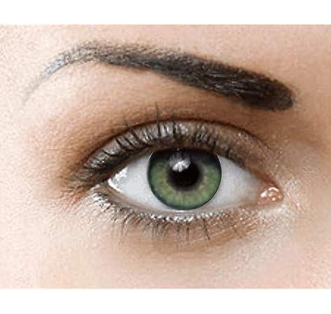 PHANTASY Eyes® HOLLYWOOD Lentillas de color natural (JADE GREEN) - 1 par (2 PIEZAS) - sin dioptrías + INCLUYE ESTUCHE GRATIS: Amazon.es: Salud y cuidado personal