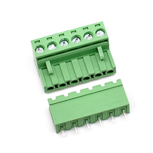 10 Set 6-Pin 5.08mm Pitch Male Female PCB Screw Terminal -