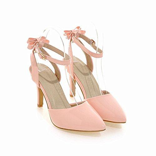 Mee Shoes Women's Charm Stiletto Bow Upper Court Shoes Pink 0iaYFdIR9D