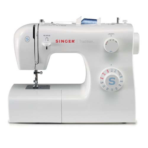 SINGER 2259 Tradition Portable Sewing Machine, With 19 Built-In Stitches – 4 Fully Automatic 1-step Buttonhole, 4 Stretch Stitches, 8 Decorative Stitches, 6 Basic Stitches, Easy Stitch Selection, and 4 Snap-On Presser Feet