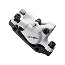 Shimano Deore BR-M446 disc brake calliper, without adapter for front or rear, white