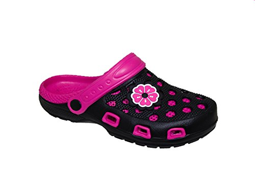 WP Spring/Summer Toddler Girls' Fashion Slingback Sandal Clogs With Cute Appliqué Detail (US Toddler 10, (Detail Slingback Sandals)