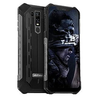 Rugged Cell Phone Unlocked, Ulefone Armor 6E IP68 Waterproof Outdoor Smartphone Android 9 Helio P70 Octa-Core 4GB+64GB 6.2 inch 5000mAh Dual Camera Global Dual 4G Fingerprint+Face Unlocked NFC (Black)