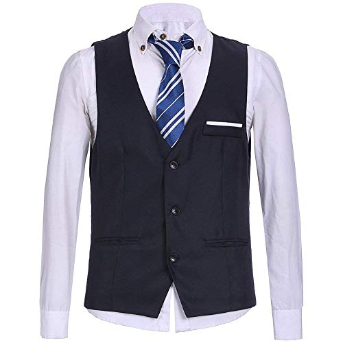 Vintage Suit Uomo Giacca Business Top Young Man Gilets Vest The Blau Casual Gentleman gqfn0HU