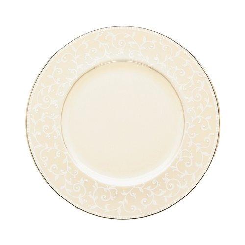 Lenox Pearl Innocence Platinum Banded Ivory China 9-Inch Accent Plate (Accent 9 Ivory Plate China)