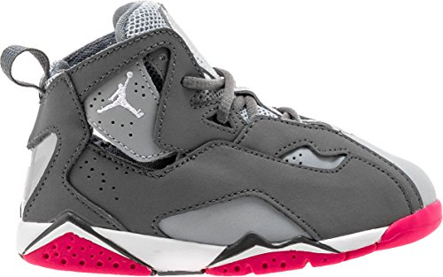 Jordan Nike True Flight GT baby-girls fashion-sneakers 645071 (9 M US Toddler, Grey Grey Pink Pink) by Jordan