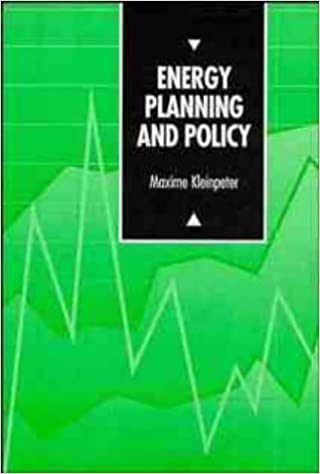 Energy Planning and Policy (UNESCO Energy Engineering)