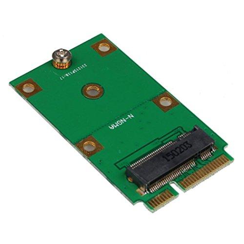 - MChoice Mini PCI-E 2 Lane M.2 NGFF 30mm 42mm SSD To 52pin mSATA Adapter Card