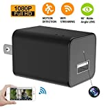 Mowriture Hidden Cameras Charger Adapter,1080P HD Motion Detection USB Wall AC Plug Charger With WIFI Spy Wall Charger Nanny Spy Camera Adapter