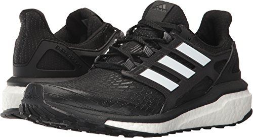 adidas Women's Energy Boost w Running Shoe, Black White, 6 Medium US