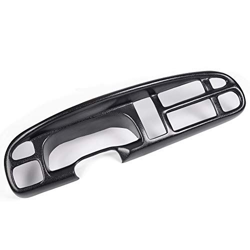 VRracing Black Plastic Dash Board Bezel Cover Cap Compatible with 98-01 Dodge Ram 1500 2500 3500 Pickup Truck