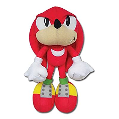 """Great Eastern Sonic The Hedgehog GE-7090 Knuckles Stuffed Plush, 9"""": Toys & Games"""