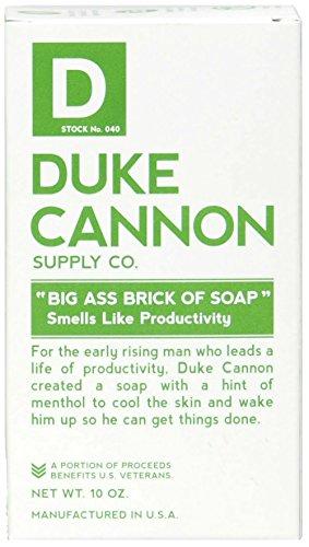 Duke Cannon Big Brick of Soap for Men - Smells Like Productivity, 10oz -