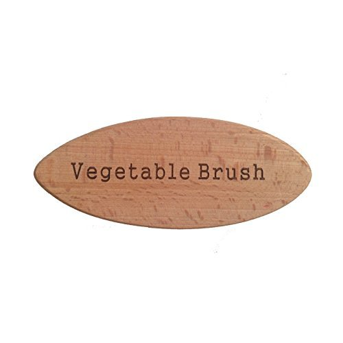 - Vegetable Brush - Made from All Natural Bamboo and Palm Fibers - Scrub and clean carrots, potatoes, corn, beets etc. (Single Pack)