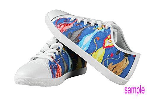 Kvinners Lerret Lave Toppen Sko Med Captain America Tema Lerret Kvinner Shoes17