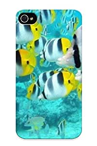 0b470e86354 Anti-scratch Case Cover Standinmyside Protective School Of Tropical Fish, Tahiti Case For Iphone 4/4s
