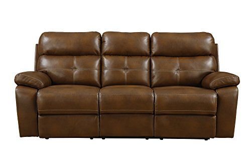 Emerald Home Furnishings Morton Motion Sofa, Standard, Brown