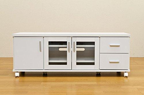 TREVIS  収納TVボード 幅120cm ホワイト HIT-08WH B010RQNJ6S