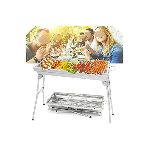 Stainless Steel Portable Barbecue Rack Folding Charcoal Stove BBQ Grills Outdoor Camping BBQ Accessories for 5 10 People,Australia (Best Gas Barbecue Australia)