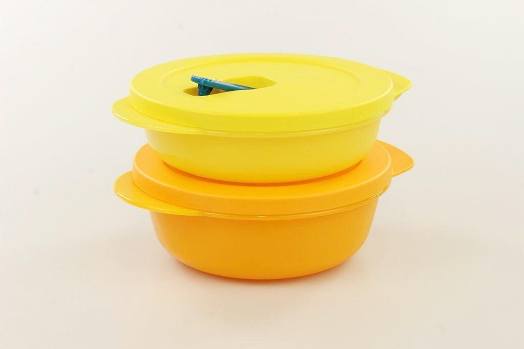 400 ml giallo TUPPERWARE CrystalWave bowl 600 ml arancoine