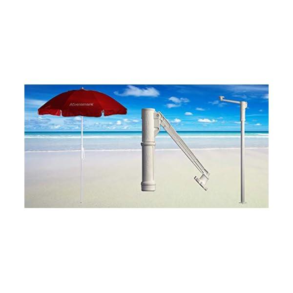 """Ombrellone da Spiaggia Antivento ,resistente al vento con il suo sistema """"Brevettato"""" di facile ancoraggio al suolo unico nel suo genere 3 spesavip"""