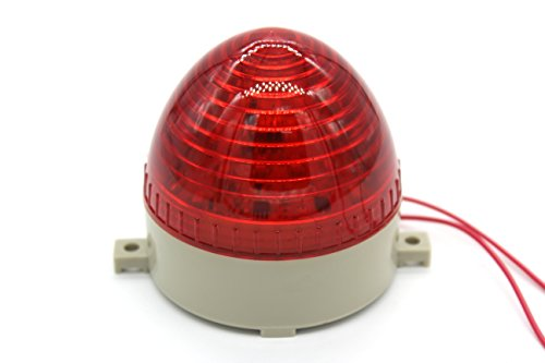 Industrial AC 110V Red LED Warning Light Bulb Signal Tower Lamp N-3072 Steady Flash by MAJIAWEI (Image #1)