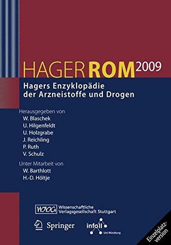 HagerROM 2009. Hagers Enzyklopädie der Arzneistoffe und Drogen: Einzelplatzversion/Windows