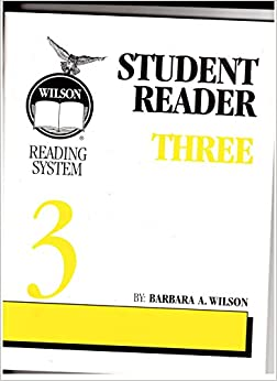 Book Wilson Reading System Student Reader Three