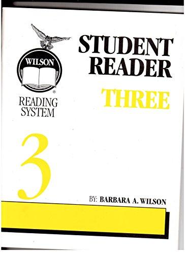 - Wilson Reading System Student Reader Three