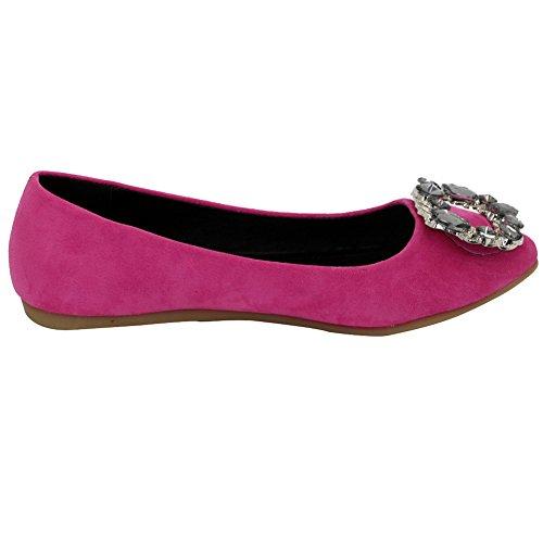 À Cramoisi Bijoux Femme Gros Tire Plat Chaussures Dépolissement Couleur Talon Suédé comme Les Aalardom Pointu Non Unie Uq1nSvv7w