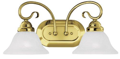 Livex Lighting 6102-02 Coronado 2 Bath Light, Polished Brass