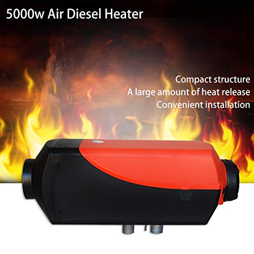 Lucky-all star 12V 5000W Diesel Air Heater, for Diesel Truck, Boat, Van,Greencolorful Diesel Heater:
