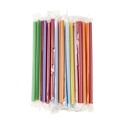(Good Cook 25-Count Colorful Milkshake Straws)