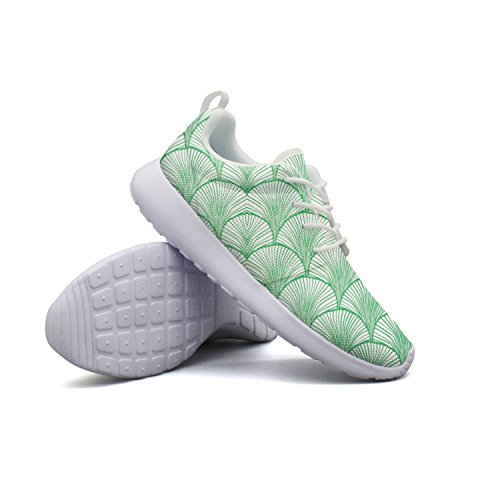 Box Sector Shaft - Armsttm Mens Lightweight Fashion Sneakers Sector Green Leaves Running Shoe Casual Athletic Shoes Breathable