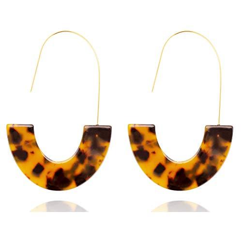 Statement Earrings Bohemian Acrylic Turquoise Earrings For Women Resin Hoop Fashion Earrings