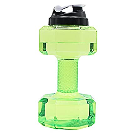 2.2L Travel Dumbbell Shaped Sport Water Cup Kettle Fit Drink Gym Exercise Bottle