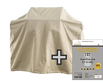 Set protectora cubierta para barbacoa parrilla de gas + Gas Botella (tamaños: 3 x l